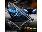 Фары LED + Angel Eyes для Toyota Celica 00-05 (черные)