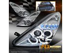 Фары LED + Angel Eyes для Toyota Celica 00-05 (хром)