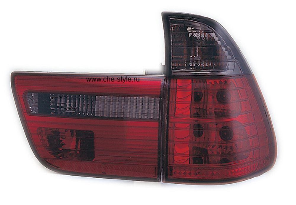 Фонари задние Bmw X5 E53 красные тонированные светодиод Sonar